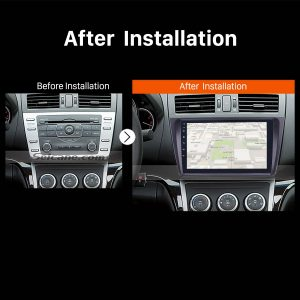 2008 2009 2010 2011-2015 Mazda 6 Rui wing Car Radio after installation