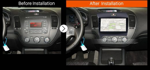 2013 2014 2015 2016 KIA K3 Car Radio after installation
