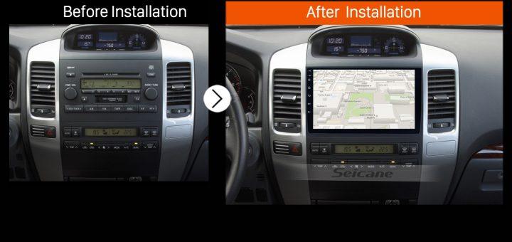 2008 Toyota Prado car radio after installation