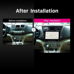2014 2015 Toyota Highlander car radio after installation