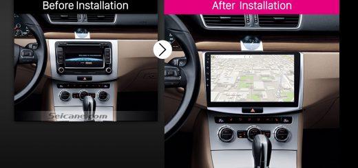 2012 2013 2014 VW Volkswagen Magotan B7 Bora Golf 6 car radio after installation