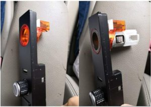 Install well the cigar lighter into Android IDRIVE