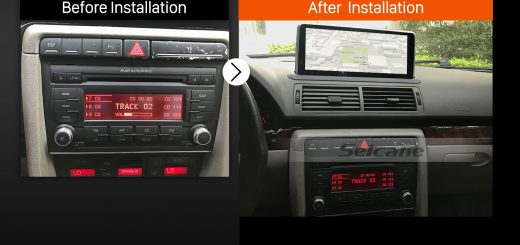 2004 2005 2006 2007-2008 AUDI A4 car radio after installation