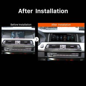 2011 2012 BMW 5 Series F10 F11 CIC car radio after installation