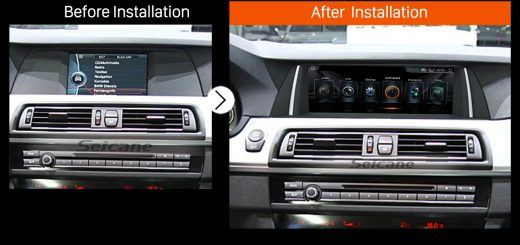 2011 2012 BMW 5 Series F10 F11 CIC car radio after installation
