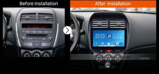 2012 CITROEN C4 Bluetooth DVD GPS Car Radio after installation