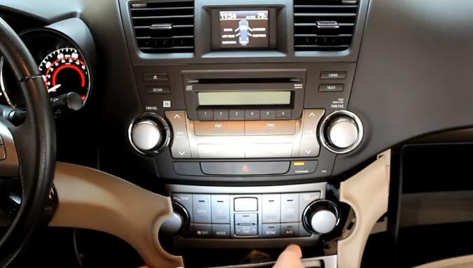 Install And Upgrade Tutorial For 2014 2015 Toyota Highlander Gps Navigation Car Radio Mirror