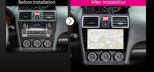 2014 2015 2016 Subaru Forester car radio after installation