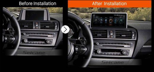 2011 2012 2013 2014-2016 BMW 1 Series F20 F21 (RHD)car radio after installation