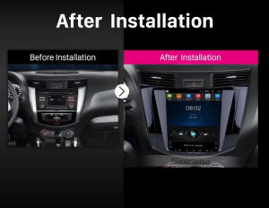 2018 Nissan NAVARA Terra car radio after installation