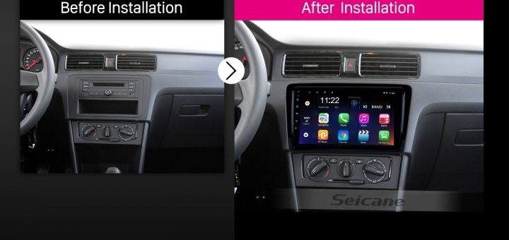 2012 2013 2014 2015 Volkswagen Santana car radio after installation
